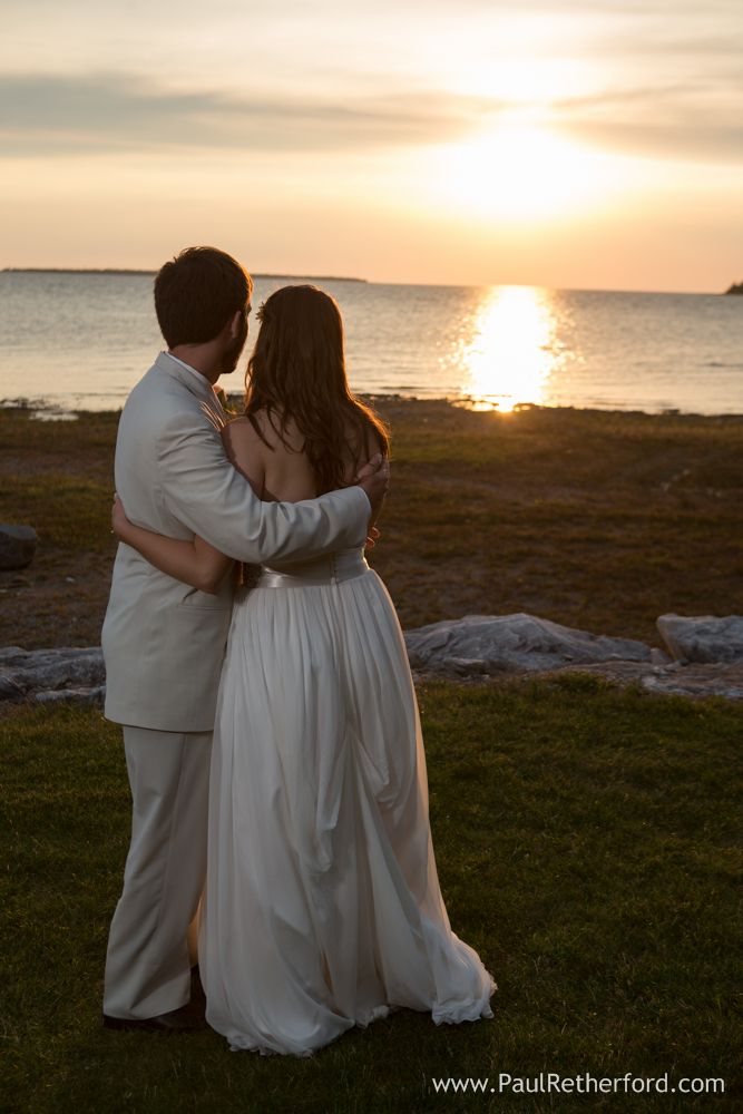 Lighthouse Point Wedding Photography St. Ignace Northern Michigan Lake Michigan beach Katie + Tom photo