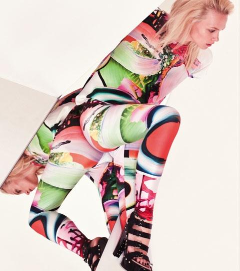 Painted Silk Tee + Painted Legging . Something Else     www.something-else.com.au