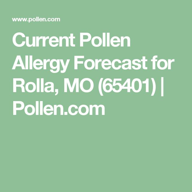 Current Pollen Allergy Forecast for Rolla, MO (65401) | Pollen.com