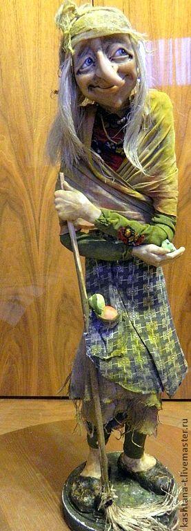 """Купить кукла """" Задорная Бабочка Яга"""" - хаки, коллекция, коллекционная кукла, баба-яга"""