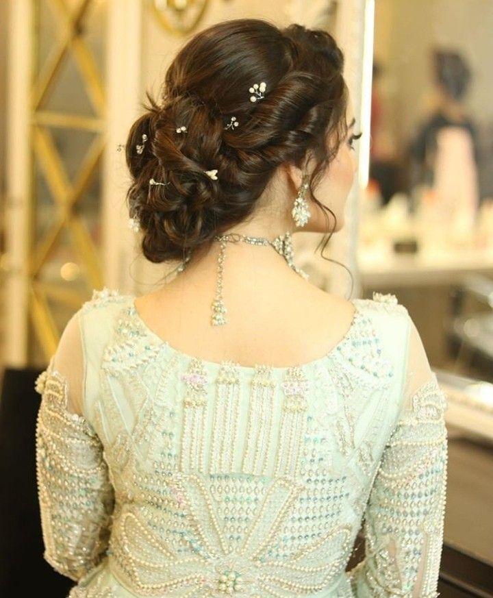 Aineeb Ki Shadi Indian Bridal Hairstyles Pakistani Bridal Hairstyles Bridal Hair Buns