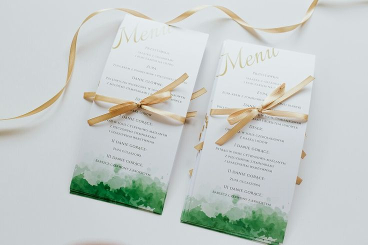 White wedding menu with green and gold details #weddingmenu#weddingdecoration#weddingideas#weddingfood#classybride