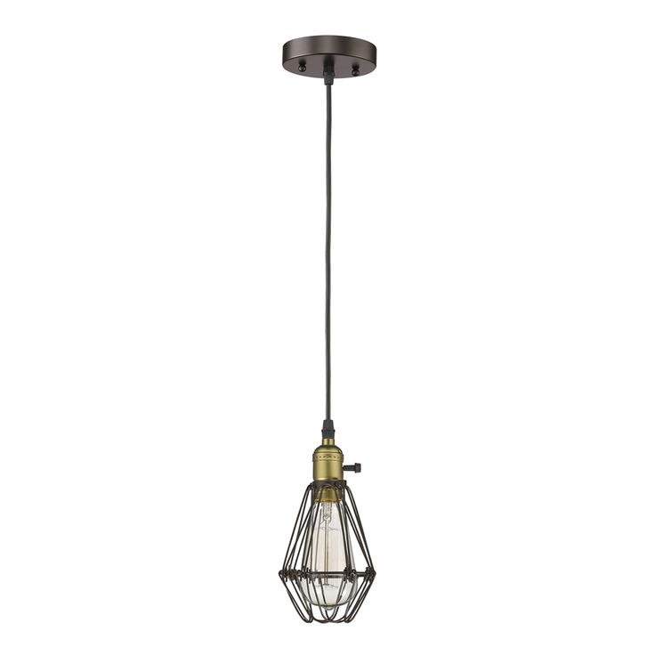 Shop Chloe Lighting  CH58042RB08-DP1 Ironclad Industrial Style 1-Light Wire Shade Mini Pendant at The Mine. Browse our mini pendant lights, all with free shipping and best price guaranteed.