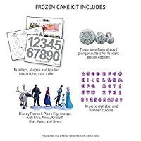 Frozen Birthday Cakes Topper Kit With Disney Figures, Snowflake Cutouts and Alphabet Cutouts