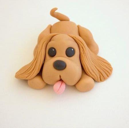 Handmade Fondant Puppy Cake by ButtercreamBakeryUK on Etsy