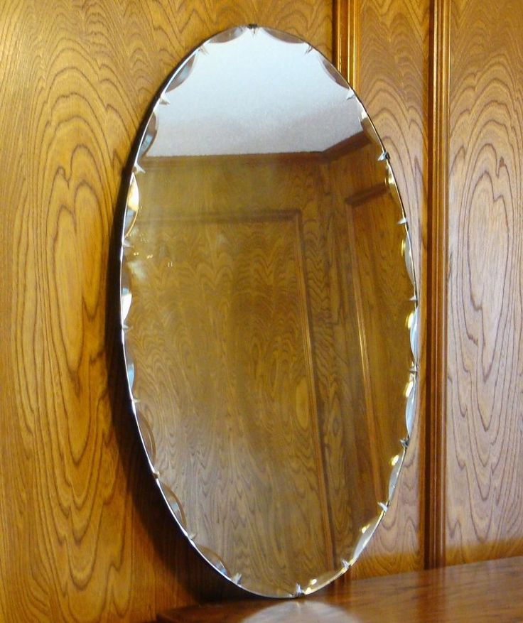 59 Best Vintage Frameless Mirrors Images On Pinterest