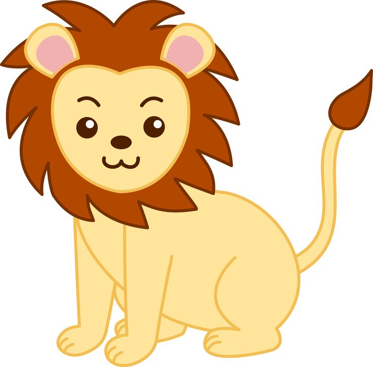 Cartoon images to paint 62 pinterest cute cartoon animals little golden lion clip art free clip art voltagebd Gallery