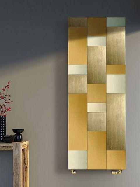 álló alumínium radiátor, design arany radiátor, luxus szobai radiátor