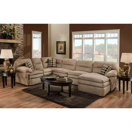 The Shiloh 3 Piece Mocha Microfiber Sectional Comes Upholstered In Light  Beige Microfiber With A Soft To The Touch Feel.