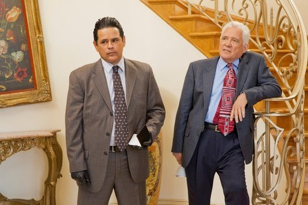 Raymond Cruz and G.W. Bailey in Major Crimes.