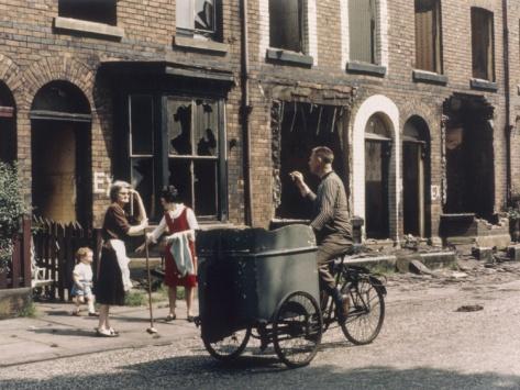 © Shirley Baker  Cycle Salesman - Hulme Manchester 1965