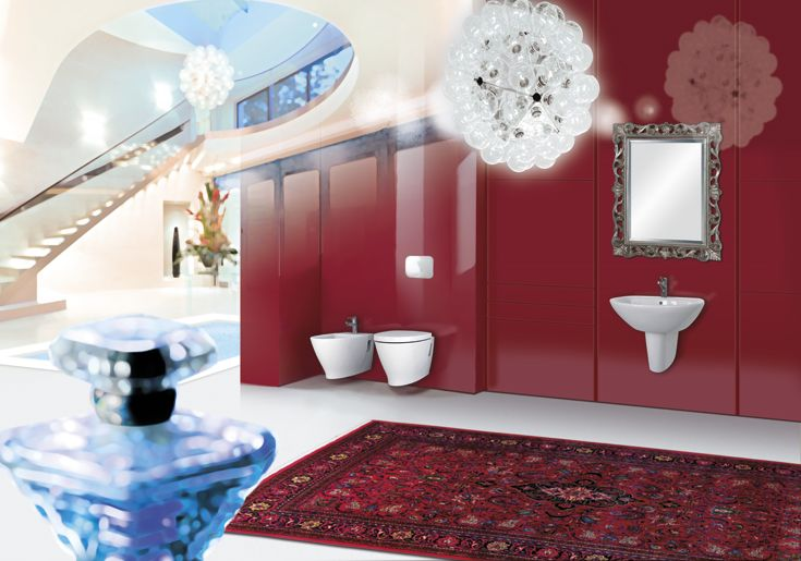 Do you love #red for your #bathroom?