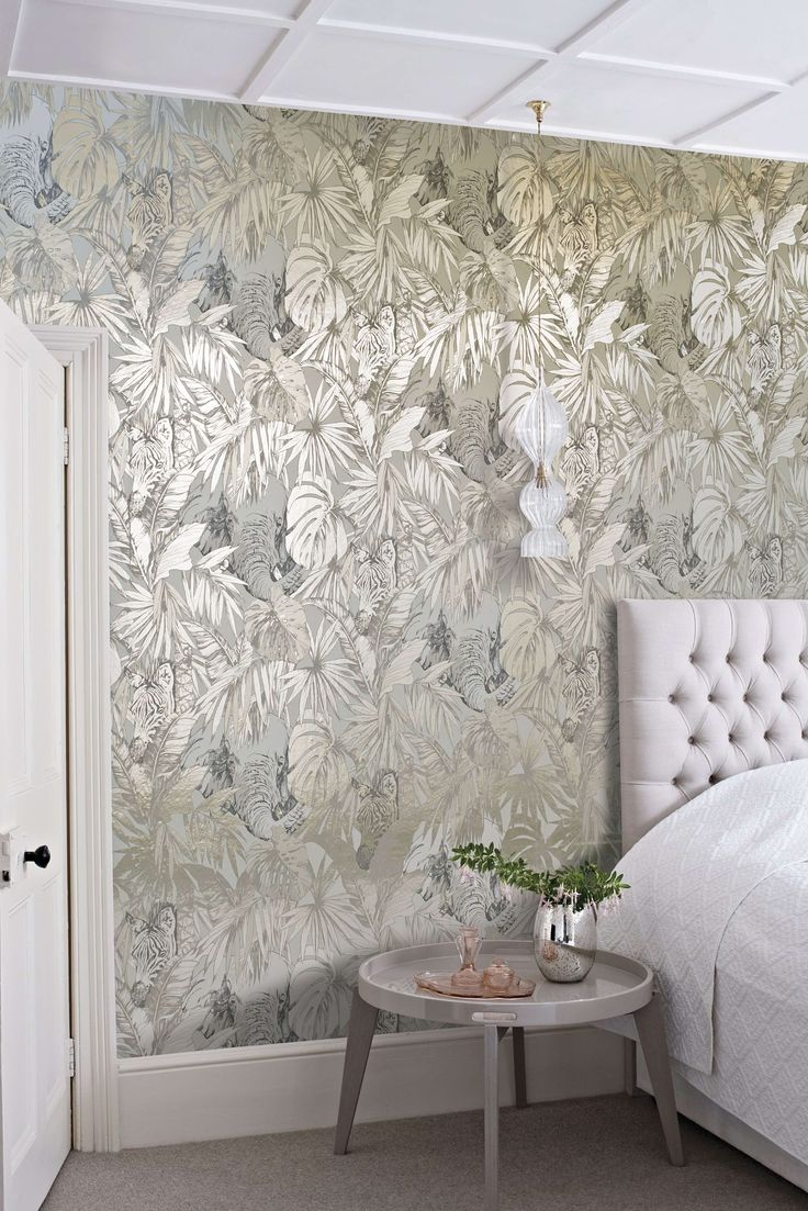 metallic wallpaper is a huge trend this year find out how to use it the - Home Wallpaper Designs