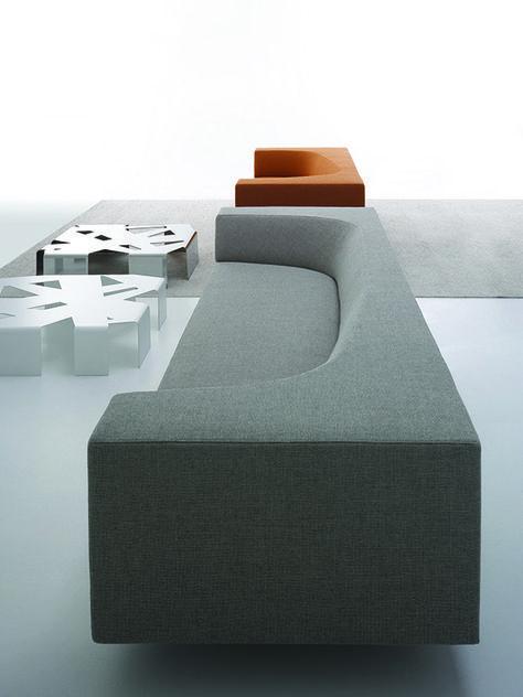 BORA BORA | Fabric sofa with removable cover by MDF Italia design by Piergiorgio Cazzaniga , Andrei Munteanu