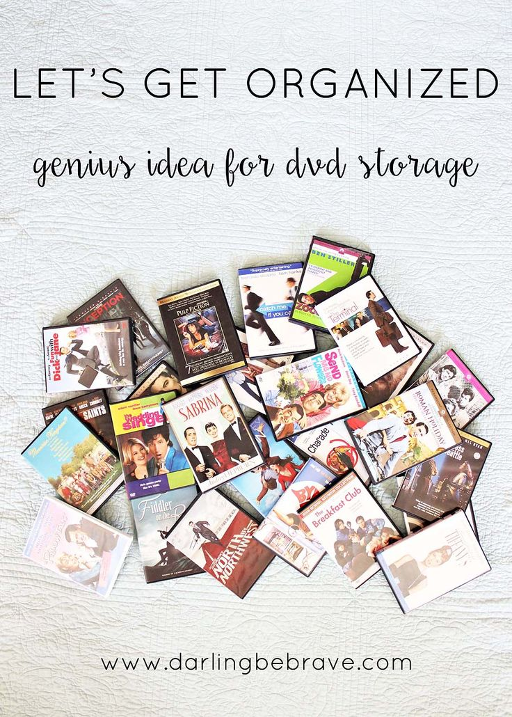 let's get organized: dvd storage solution.  { via darlingbebrave.com }                                                                                                                                                                                 More