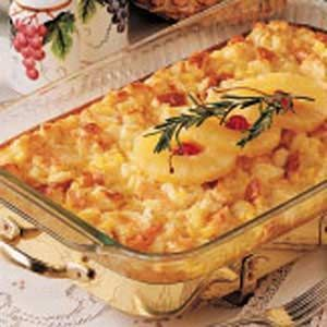 Country Pineapple Casserole Recipe - http://www.tasteofhome.com/Recipes/Country-Pineapple-Casserole#