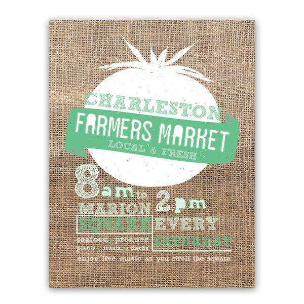 Charleston Farmers Market by Megan Towle, via Behance