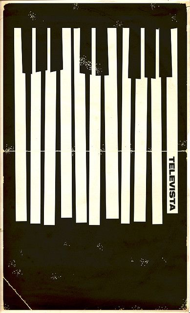 lovely piano key poster design