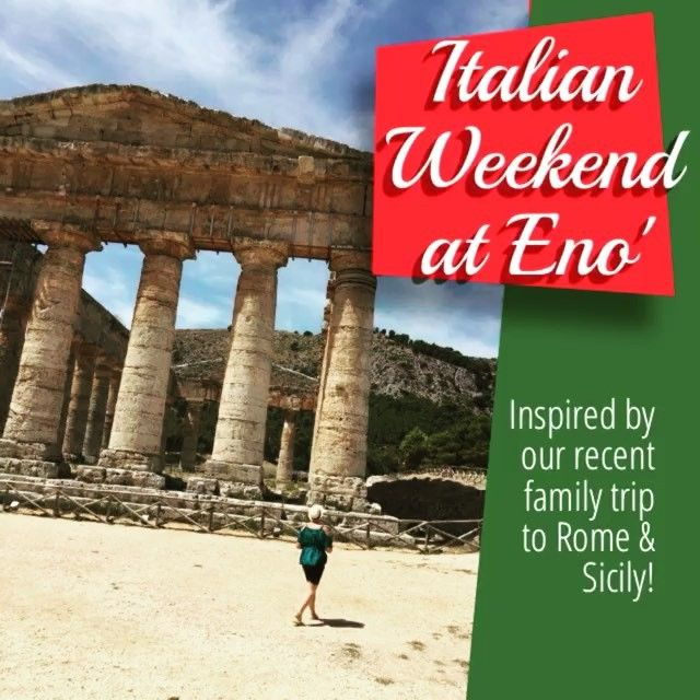 🇮🇹 Starting this Friday, we are featuring Italian weekend in eno' 🇮🇹 We are…