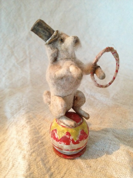 Spun Cotton Batting Father Christmas Mushroom Tree Ornament Vintage Type OOAK | eBay