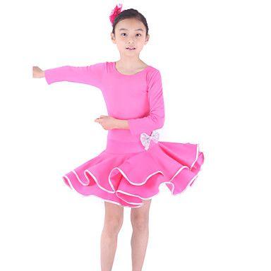 Gorgeous Dancewear Viscose Latin Dance Dress For Children More Colors – USD $ 34.99