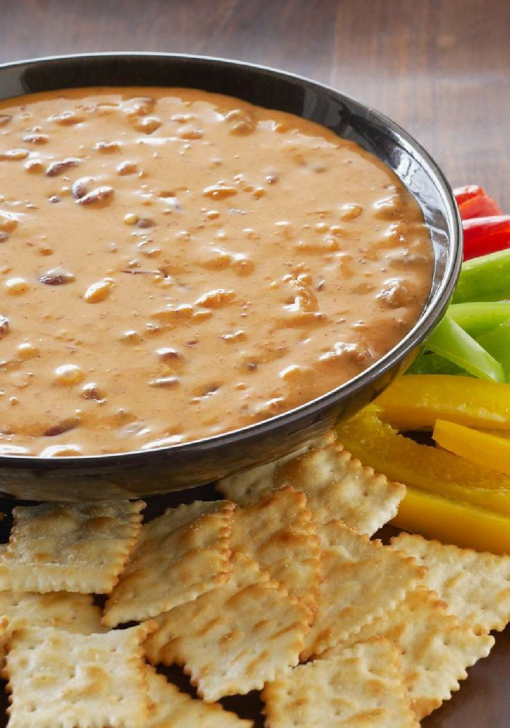 VELVEETA Chili Dip -- Just 2 ingredients and 10 minutes stand between you and this VELVEETA Chili Dip. As cheesy appetizer recipes go, it's a classic.