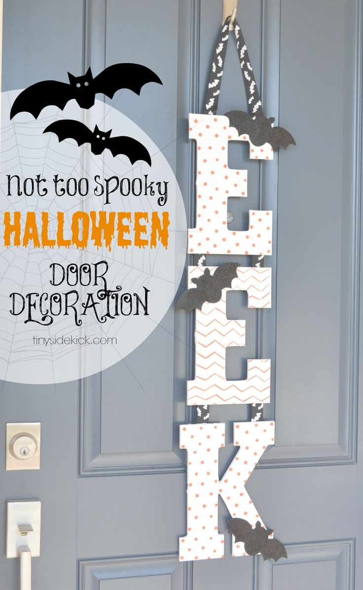 outdoor halloween decoration - I'd probably do Boo rather than Eek