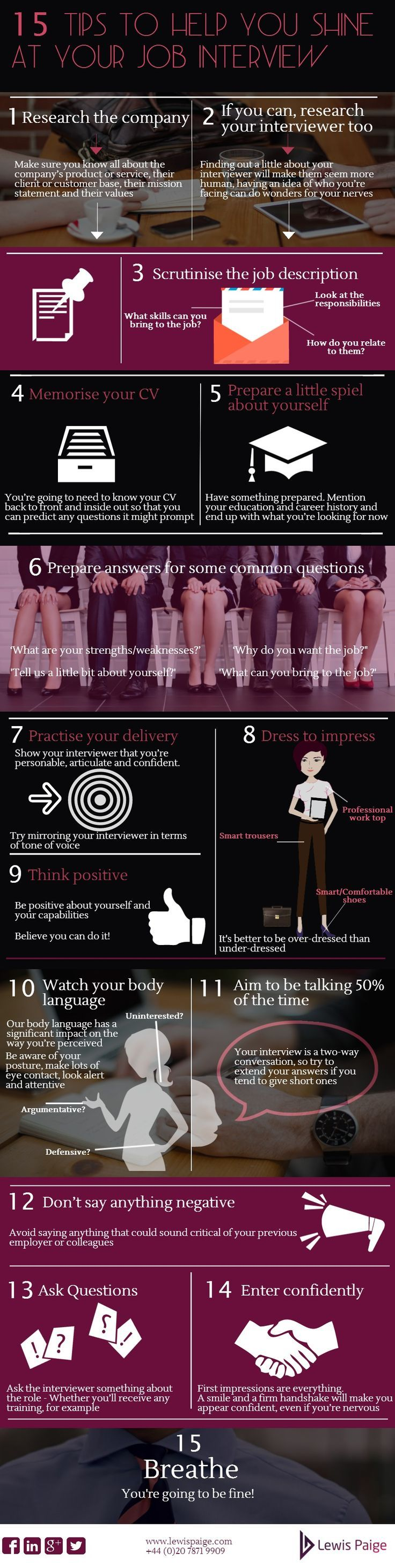 Tips to help you shine at your next job interview!
