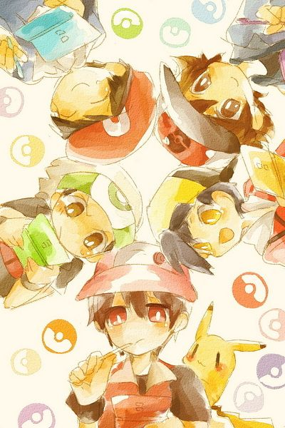 Pokemon trainers on DS