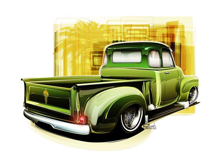 Car Culture  Drawing Hot Rods  Page 2  Car Art  Art -6682