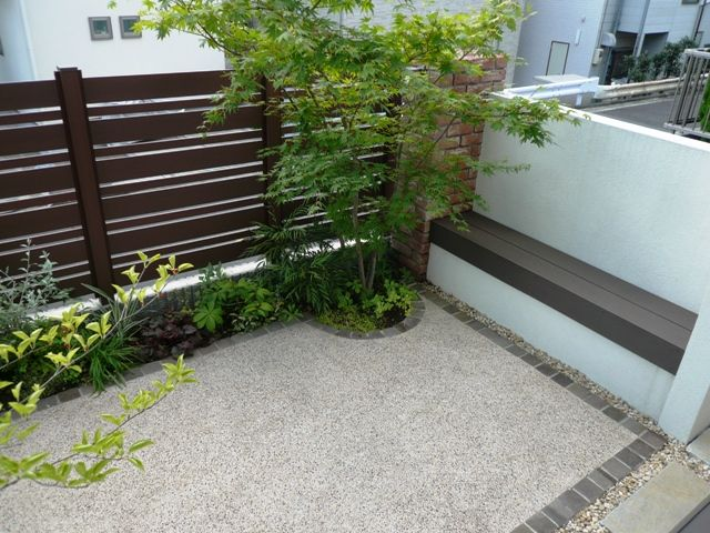ガーデン施工事例 / ローメンテナンス、樹脂デッキ、樹脂フェンス