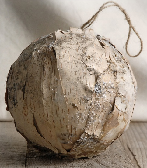 Natural 5 in. Birch Ball with Hanger $6 each / 3 for $5 each
