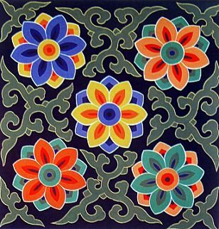 """A lotus flower-""""Danchung"""" in colors"""