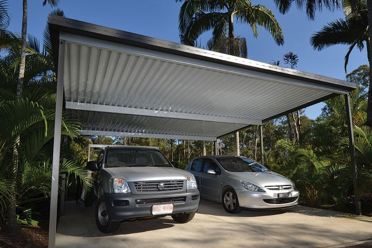 Shademaster Single Skin with W-Pan Profile. Carport in White Bay Ceiling Colour.