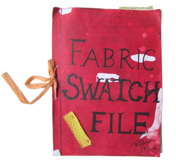 Swatch File File a mano ritagli di tessuto di EcoFabricStore
