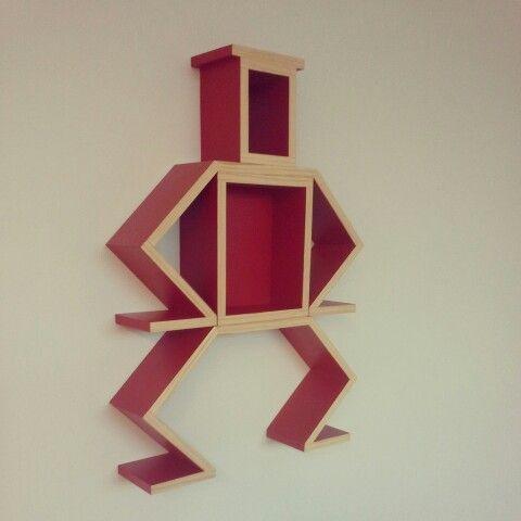 Red BossBot by DIYSHELF.COM
