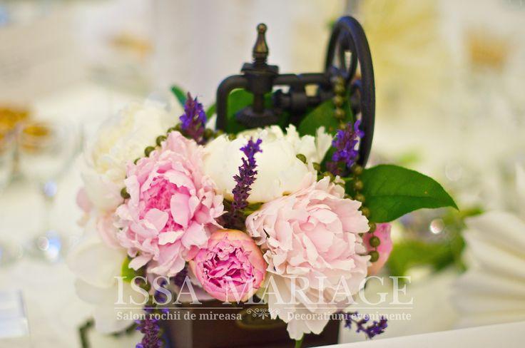 Marturie nunta cu aranjament floral IssaEvents