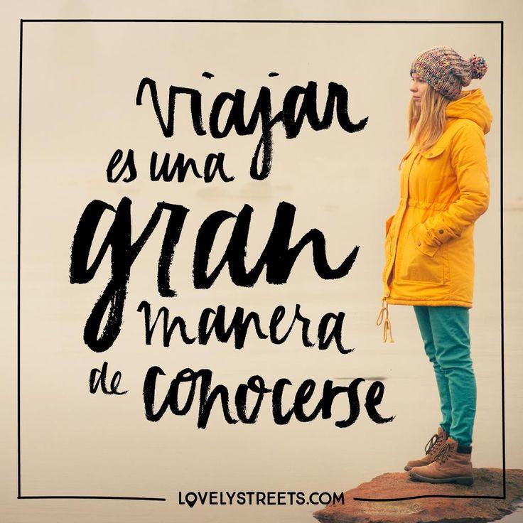 Muchas veces tenemos que perdernos para volver a encontrarnos. #lovelystreets #quotes #frases #viajar #travel