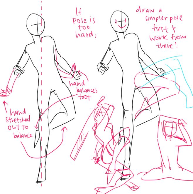 """kelpls: """" YEAH lots of people asked about bodies and poses SO UMM THERE""""S not much i can cover on full bodies idk every cahracter is different so there are noEAXCT proportions for anythign REALLY IF..."""