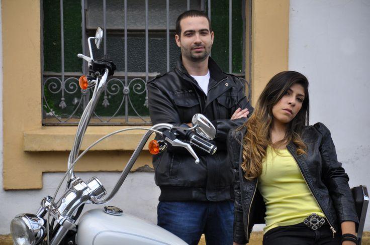 Mi & Lucas e sua Harley Davidson