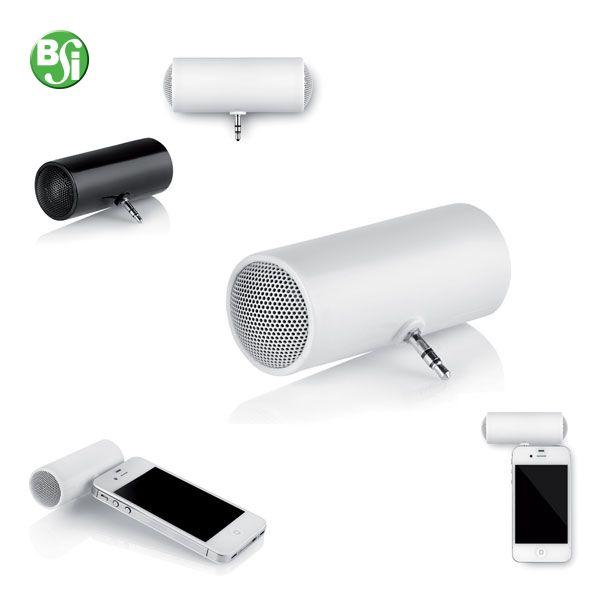 Cassa in ABS per MP3, iPod®, iPad® e smart phones. Alimentazione con 2 batterie AAA (non incluse). Confezionato in singola scatola di cartone silver.  #cassasmartphone #abs #gadget #gift #technology #gadgetpersonalizzati