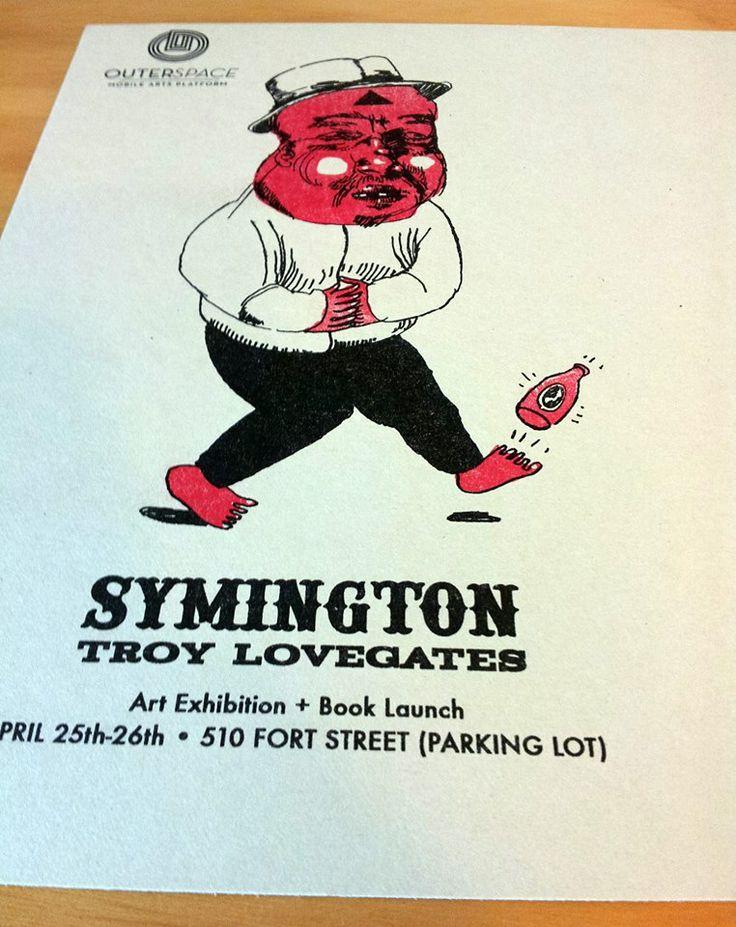 #TroyLovegates #Risograph exhibition flyer