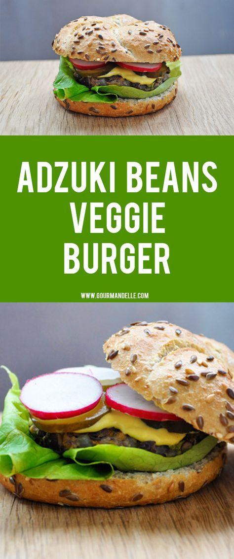 "Vegetarian ""Beef"" Burger | Adzuki Beans Veggie Burger"