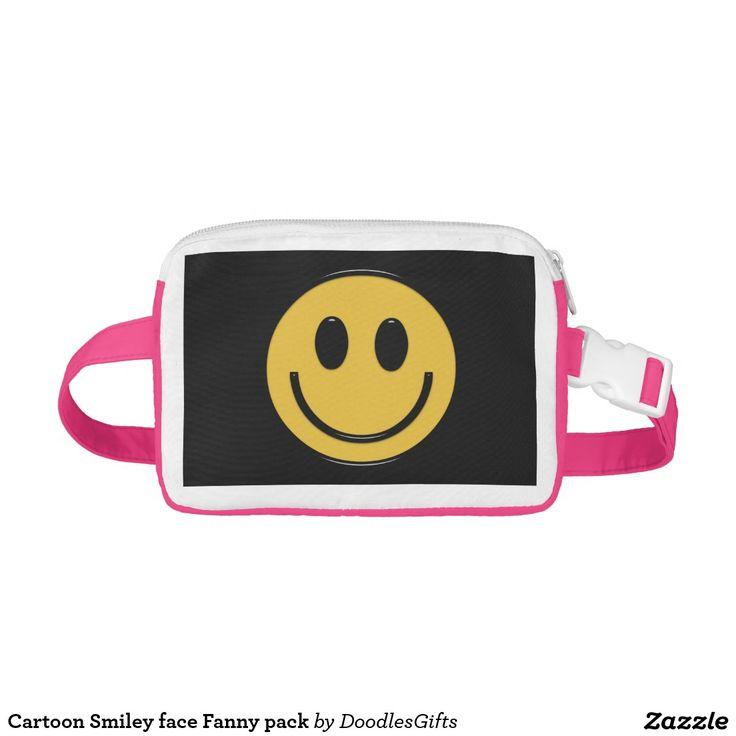 Cartoon Smiley face Fanny pack Nylon Fanny Pack