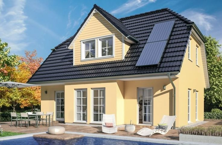 Maison contemporaine à toit à pignon FANTASTIC 163 V6 – Bien ...
