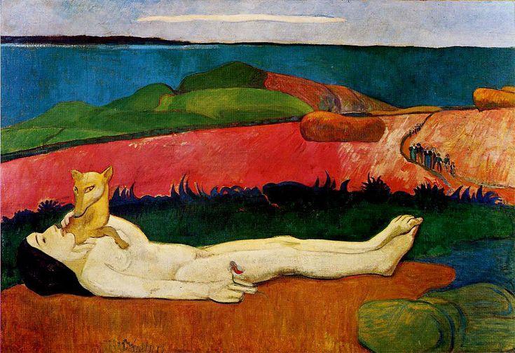 Поль Гоген «Потеря девственности» (Пробуждение весны). Описание картины