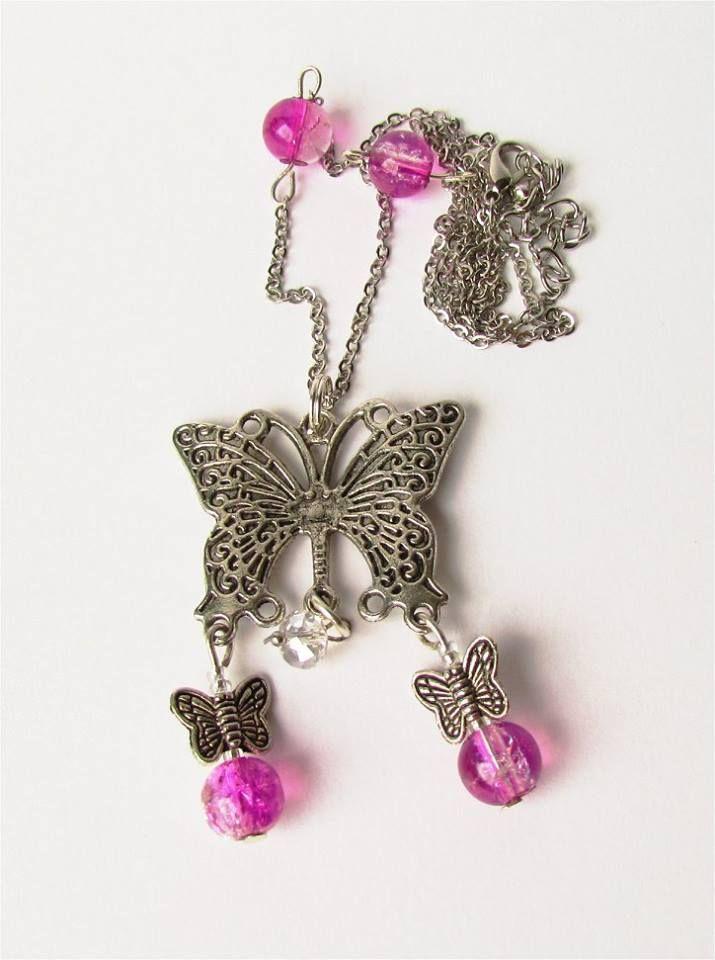 Beautiful Handmade Butterfly pendant by Delabud ..https://www.facebook.com/delabudcreations