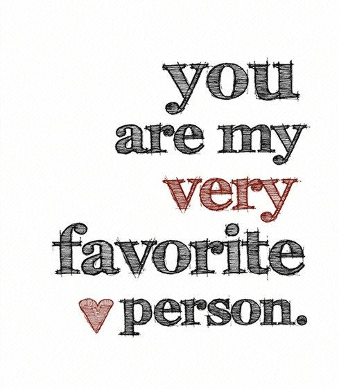 You Are My Very Favorite Person ART PRINT  Black by BubbyAndBean, $20.00