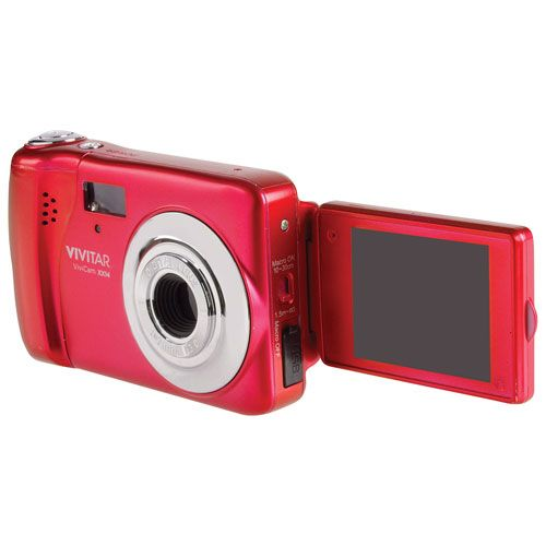 Take better selfies this Canada Day with the Vivitar VXX14 20MP compact point-and-shoot camera. The 180-degree rotating LCD display lets you easily preview and compose your selfies with easy.