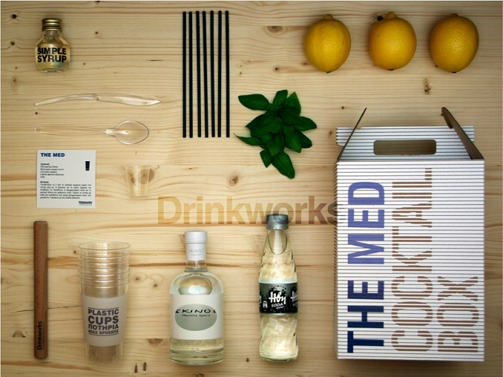 The Med Cocktail Kit by Drinkworks: ingredients & accessories for 7 mastiha cocktails